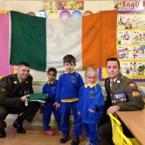 Presentation 1 of National Flag to Junior Infants